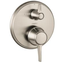 Brushed Nickel Pressure Balance Trim with Diverter, Round