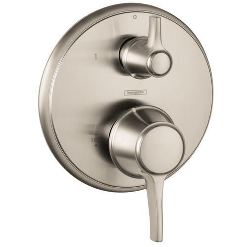 Brushed Nickel Pressure Balance Trim with Diverter, Round