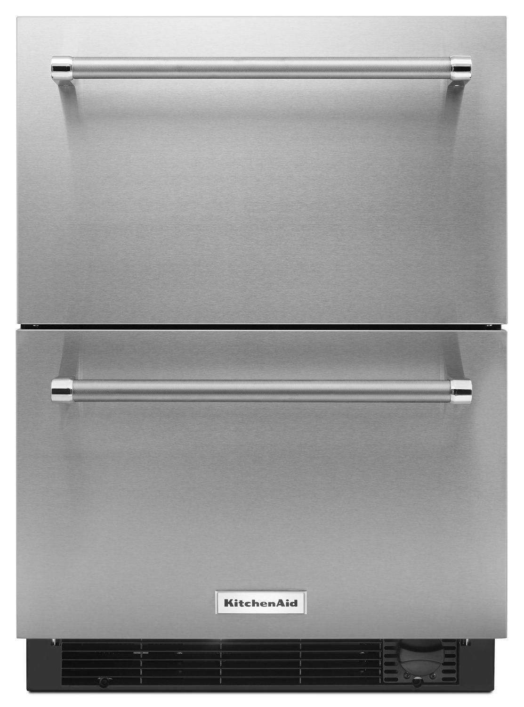 "Kitchenaid24"" Stainless Steel Refrigerator/freezer Drawer Stainless Steel"
