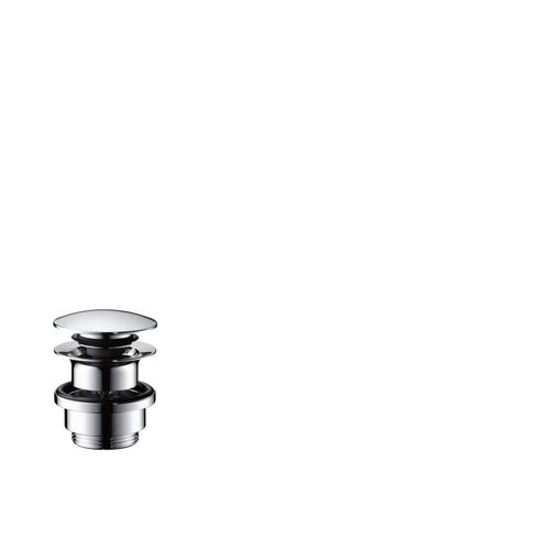 Chrome Waste set push-open for basin and bidet mixers