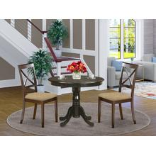 3 Pc Kitchen Table set-small Kitchen Table plus 2 Dining Chairs