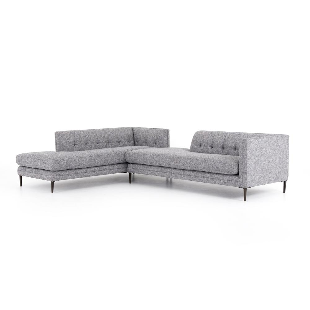 Right Arm Facing Configuration Lyon Slate Cover Kingsley Bumper Chaise Sectional