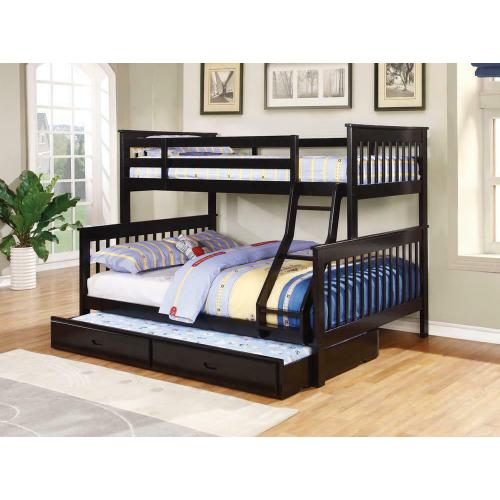 Chapman Transitional Black Twin-over-full Bunk Bed
