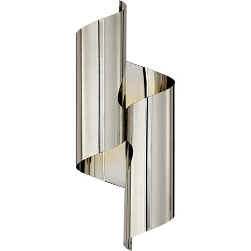 AERIN Iva 2 Light 7 inch Polished Nickel Wrapped Sconce Wall Light, Medium