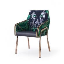 View Product - Modrest Fierce - Black & Rosgold Panther Dining Chair