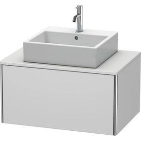 Vanity Unit For Console Wall-mounted, White Satin Matte (lacquer)