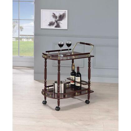 See Details - Recreation Room Traditional Merlot Serving Cart