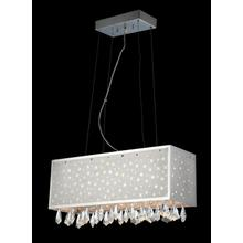 See Details - Crystal Ceiling Lamp, C/crystals, Jc/g4 20wx6 & LED 1wx8