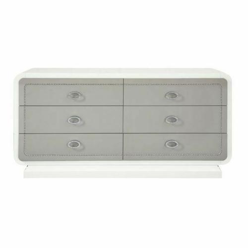 ACME Allendale Dresser - 20195 - Ivory & Latte High Gloss