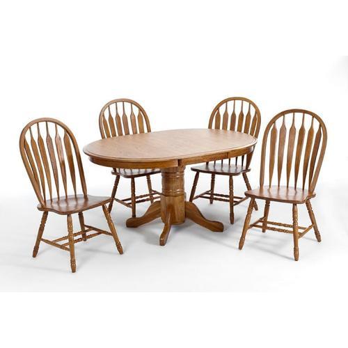 Intercon Furniture - Classic Oak Chestnut Solid Pedestal Table