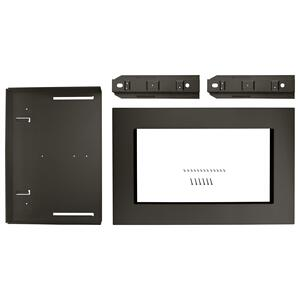 """Whirlpool27"""" Trim Kit for 1.5 cu. ft. Countertop Microwave Oven with Convection Cooking Black Stainless"""