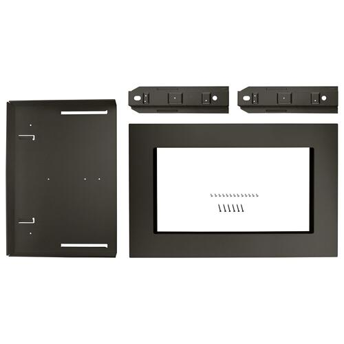 """Whirlpool - 27"""" Trim Kit for 1.5 cu. ft. Countertop Microwave Oven with Convection Cooking Black Stainless"""