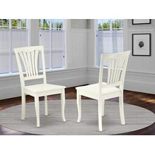 Avon Chair for dining room with wood Seat - Linen WhiteFinish