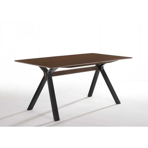 VIG Furniture - Modrest Runyon Modern Walnut & Grey Fabric Dining Set