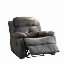 ACME Ashe Recliner - 59466 - Gray Polished Microfiber