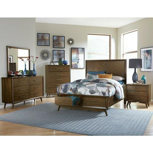 Product Image - Queen Platform Bed with Footboard Storage