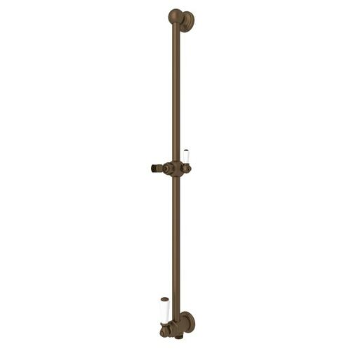 English Bronze Perrin & Rowe Edwardian Shower Bar With Integrated Volume Control And Outlet
