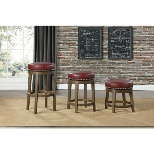 Gallery - Round Swivel Counter Height Stool, Red