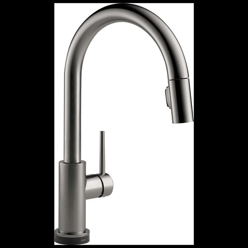 9159tvksdst In Black Stainless By Delta Faucet Company In Mcnabb Il Black Stainless Voiceiq Single Handle Pull Down Kitchen Faucet With Touch 2 O Technology