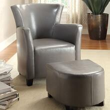 See Details - Half Moon Bay Accent Chair W/ Ottoman