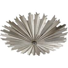 E. F. Chapman Claymore LED 28 inch Burnished Silver Leaf Flush Mount Ceiling Light