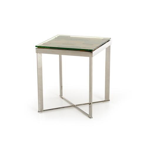 VIG Furniture - Modrest Santiago Modern Rectangular Wood Mosaic End Table