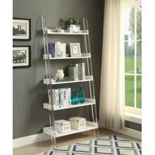ACME Martinus Bookshelf - 92495 - High Gloss White & Clear Acrylic