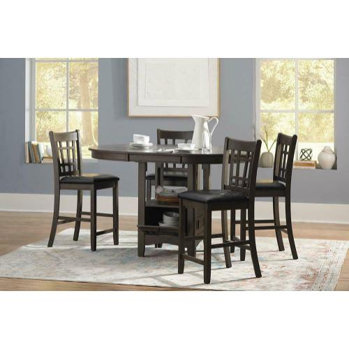 Lavon Gray Counter Height Table and 4 Stools