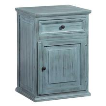 See Details - Nightstand - Antique Turquoise Finish