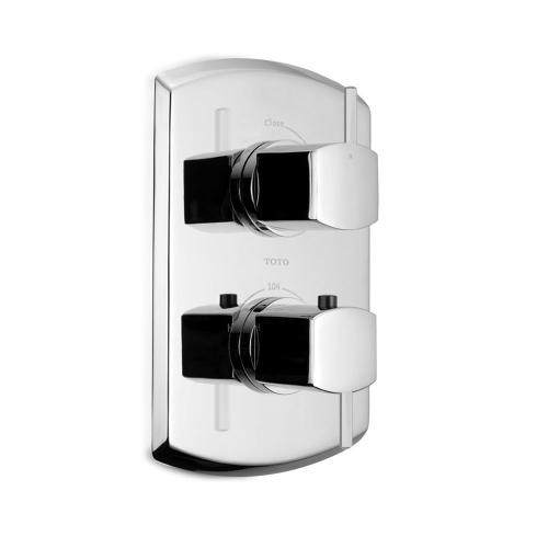 Soirée® Thermostatic Mixing Valve Trim with Single Volume Control and Lever Handles - Polished Chrome Finish