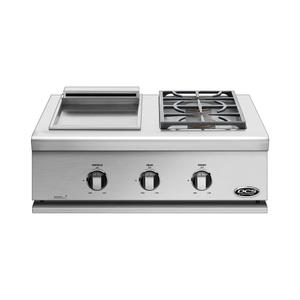 "Dcs30"" Series 7 Griddle/double Side Burner, Natural Gas"