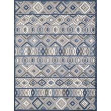 """Calla 6921 Grey/blue Aztec 5'3"""" X 7'"""