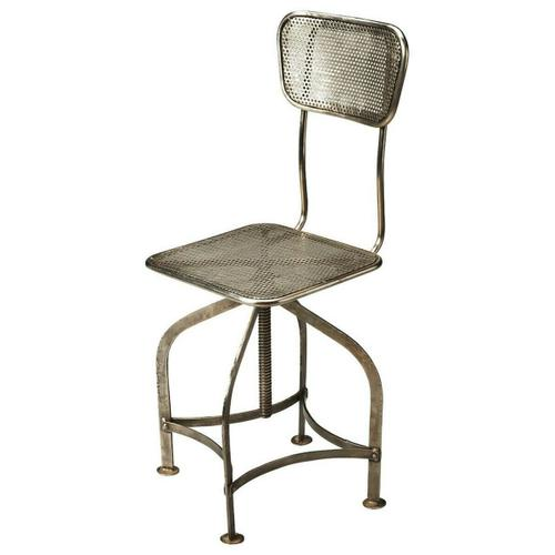Butler Specialty Company - Sitting comfortably in a vintage industrial zone, this wonderfully low-tech, iron Swivel Chair can be adjusted to the ideal height simply by turning the seat.