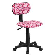 Pink Dot Printed Swivel Task Chair