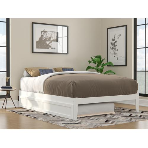 Atlantic Furniture - Colorado Queen Bed with USB Turbo Charger and Twin Extra Long Trundle in White