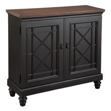 2-7735 Black Chest with Burnished Brown Top