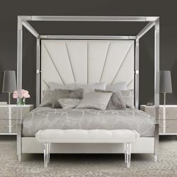 Queen Canopy Bed (4 Pc)
