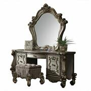ACME Versailles Vanity Desk - 26847 - Antique Platinum Product Image