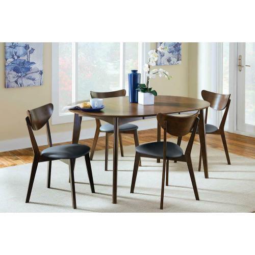105361 In By Coaster In Rockford Il Malone Mid Century Modern Dark Walnut Dining Table