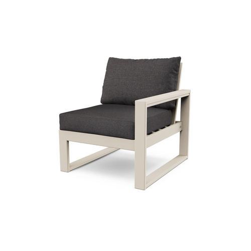 Sand & Ash Charcoal EDGE Modular Right Arm Chair