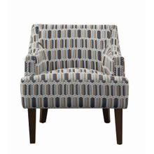 Gideon Transitional Geometric Accent Chair