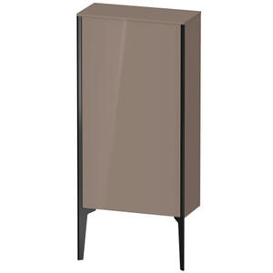 Semi-tall Cabinet Floorstanding, Cappuccino High Gloss (lacquer)