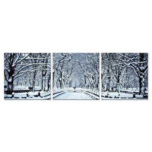 Gallery - Modrest Winter Trees 3-Panel Photo