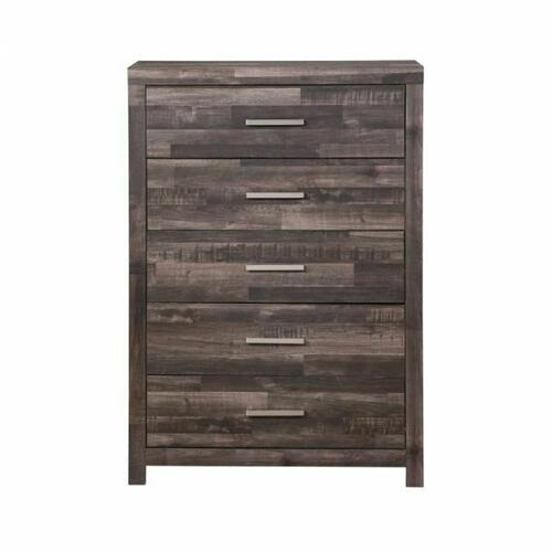 ACME Juniper Chest - 22166 - Transitional, Rustic - Wood (Solid Pine), Veneer (Melamine/Paper), MDF - Dark Cherry
