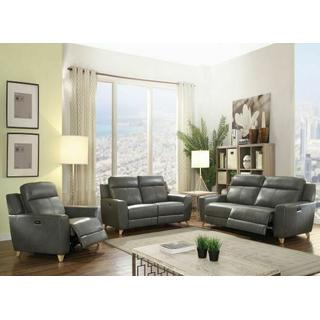 ACME Cayden Sofa (Power Motion) - 54200 - Gray Leather-Aire Match