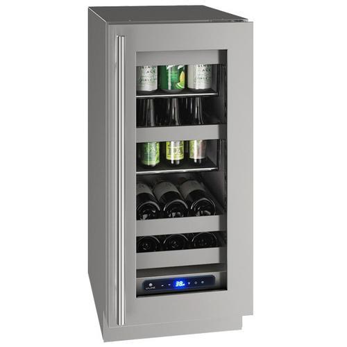 "U-Line - Hbv515 15"" Beverage Center With Stainless Frame Finish and Left-hand Hinge Door Swing (115 V/60 Hz Volts /60 Hz Hz)"
