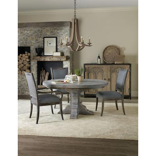 Dining Room Beaumont 48in Round Wood Dining Table Top w/2-12in leaves