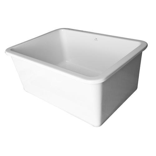 """Orabella 27"""" Drop-in/Undermount Fireclay Kitchen Sink"""