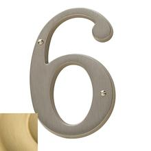 Lifetime Satin Brass House Number - 6
