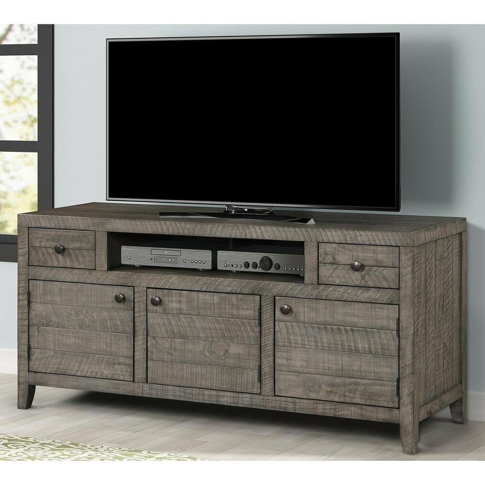 See Details - TEMPE - GREY STONE 63 in. TV Console
